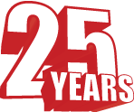 Font 25 years PNG