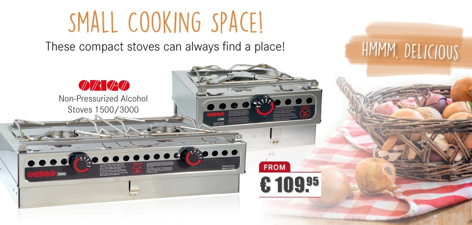 ORIGO - Non-Pressurized Alcohol Stoves 1500/3000